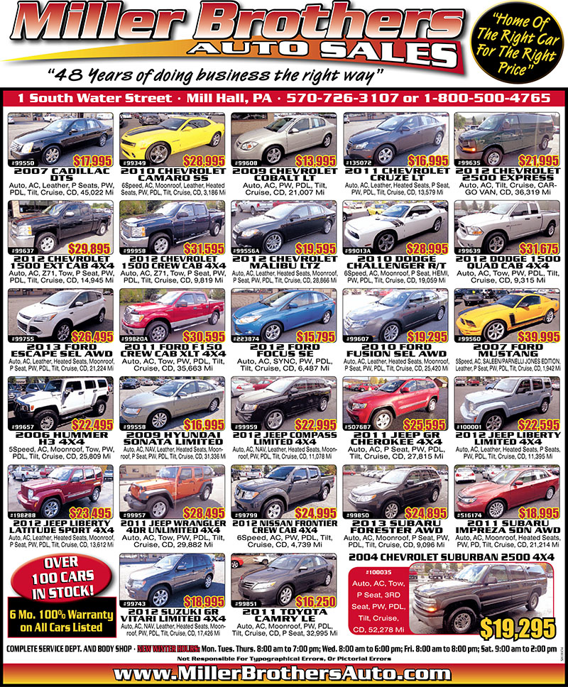 Brothers Auto Sales >> Miller Brothers Auto Sales The Record Online