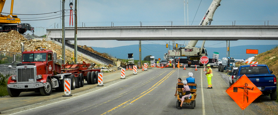 Beams Set for Route 220 Project