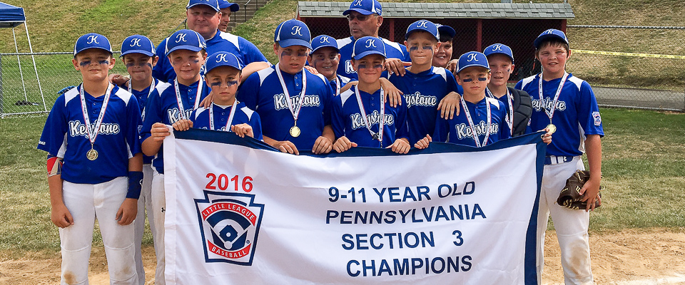 Keystone 9-11s Make it a Clean Sweep for Section 3