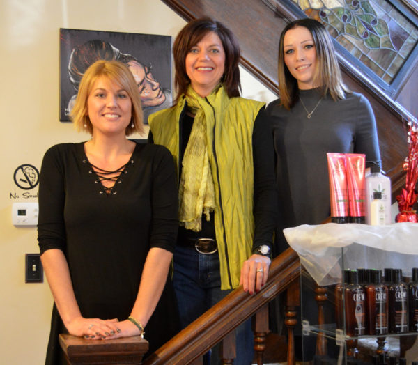 Pictured at Hair Studio 35 are, from left, Dana Walker, hair stylist and new owner of the salon; Carol Orndorf, hair stylist and former salon owner; and Sydney Weaver, nail technician.