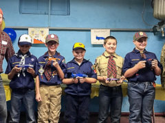 Scouts Hold Pinewood Derby