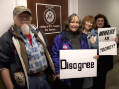 Locals Join Protest at Toomey's Scranton Office