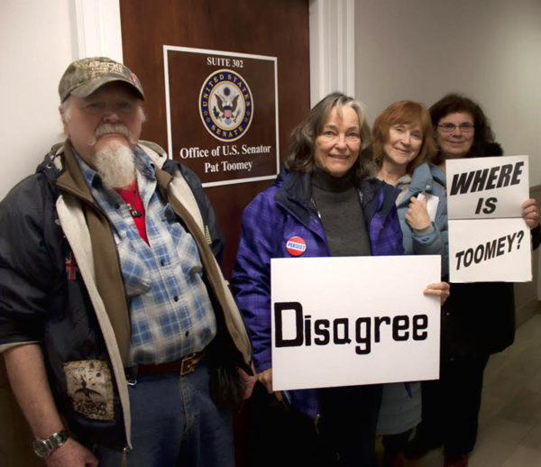 Pictured at Sen.  Patrick Toomey's office are Clinton County constituents Dan Reeder, Vicki Smedley, Karin Sutherland and Rose Reeder.