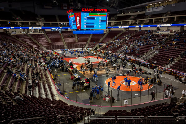 Four mats, no waiting. It's still 'win or go home' mode for the Wildcats and their next test will be the Colts of Cedar Cliff at 6 p.m. in the consolation quarterfinal round.