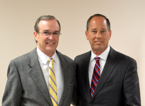 State Rep. Mike Hanna, left, and state Sen. Joseph Scarnati