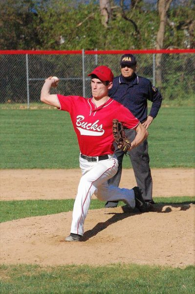 FARWELL - Senior Mike Casper struck out seven in five innings of work against Sugar Valley on Tuesday but Bucktail fell to Phoenix by a 10-3 score. The Bucks host Sullivan County on Friday, game time 4:30 p.m. Record photo - courtesy Butch Knauff
