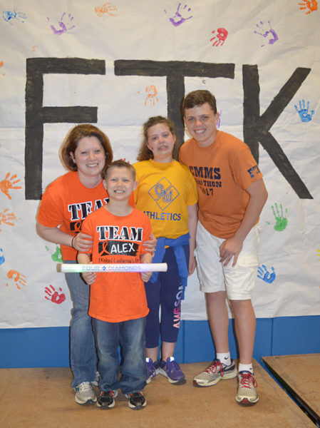 The Johnson family, from left: Lindsey, Alex, Hannah and Peyton.