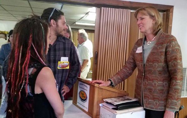 PA Department of Conservation and Natural Resources Secretary Cindy Adams Dunn, right, speaks to Clinton County community members at the Clinton County Economic Partnership's Lunch & Learn event.