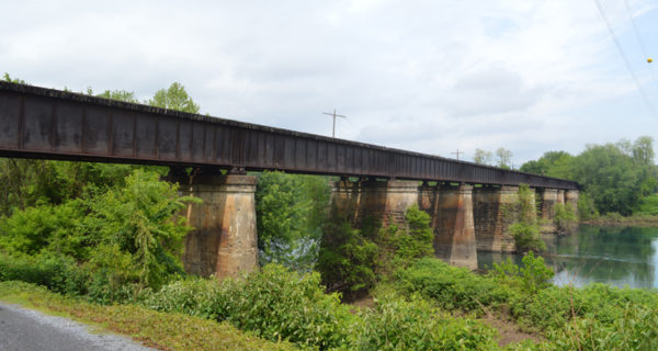 This is the defunct train bridge off Spook Hollow Road that spans the West Branch Susquehanna River.