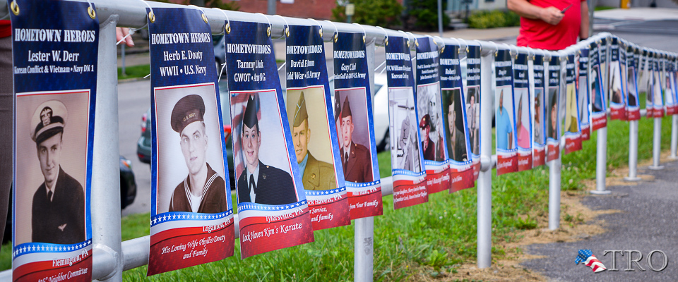 Hometown Heroes Ceremony Honors Those Who 'Answered the Call of Duty'; Banners to arrive next week, be hung by month's end